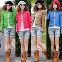 winter clothing 2013 down jacket women fashion jacker smallerone laciness thin short design slim down coat female  free shipping