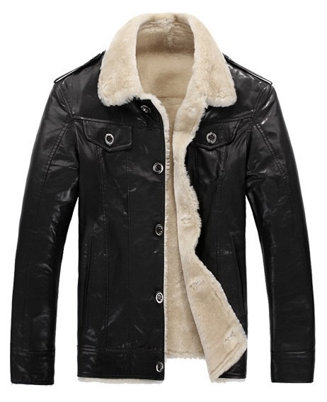 Men's 100% lambskin Genuine sheepskin Shearling Coat .lamb jacket freeshipping EMS. men's winter leather coat(China (Mainland))