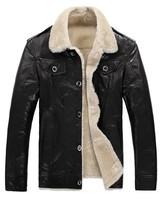 Men's 100% lambskin Genuine sheepskin Shearling Coat .lamb jacket  freeshipping EMS. men's winter leather coat