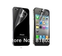 Clear Full Body Screen Protector For iPhone4 4G 4S,5 Front+5 Back+5 With Retail Package Free Shipping