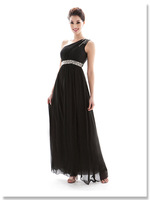 Evening Dresses 2014 Fashion One Shoulder Black Sexy Summer Party Dress Long Casual Formal dress Women