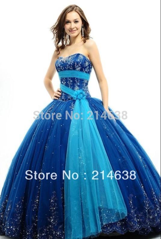 Imagenes de vestidos azules de 15 años - Imagui