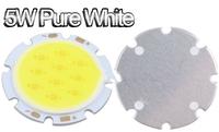 5W Pure White Round COB LED SMD Light Lamp Bulb DC 18V 6000-6500K 350LM~400LM