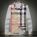 Quality clothing 219 2013 spring casual classic plaid patchwork long-sleeve shirt 8801f100