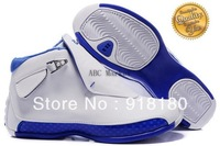 Wholesale Famous Trainers Rerto XVIII 18 Men's Sports Basketball Shoes ((white / blue patent)