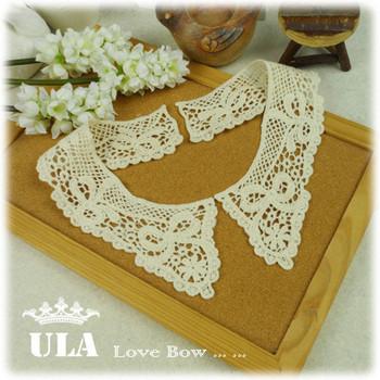 Wholesale lace collar necklace bow design 7.5*26.5cm DIY Lace Fabric Paste, Decoraive collar, collar necklace Jewelry 5pcs/lot