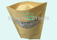 Factory directly sale Gift packaing bag, food standup pouch windows zipper lock packaging bags 180*280mm