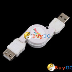 New USB Male to Female Retractable Extension Cable M/F Cord Adjustable Length(China (Mainland))