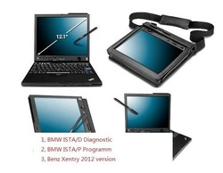 3 In 1 Laptop Installed with ICOM ISTA-D 2.32/ISTA-P 2.48/BENZ star c4 DAS201209(IBM X61T Tablet PC)(China (Mainland))
