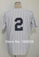 Free Shipping #2 Derek Jeter Men's Baseball Jersey,Sports Jersey,Embroidery logos,Size 48--56,Accept Mix Order