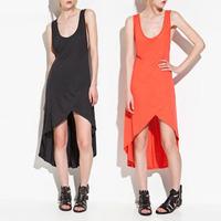 Fashion 2013hm women's irregular cross modal cotton vest     fish tail skirt plus size available