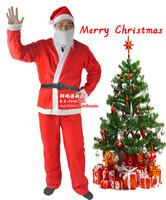 372g imitation cloth christmas clothes santa claus clothes christmas clothes christmas men's clothing christmas 5 piece set