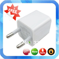 Free shipping High quality EU Plug 5V 1A AC Power USB Wall Charger For iPhone 4 4S 3GS For iPod