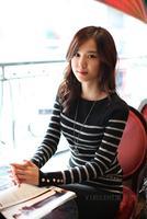 New fashion  Korean women fashion elegant striped vintage sweater  casual slim long sleeve OL style sweater #TB456