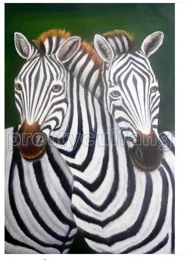 Handmade Large Art Animals Zebra Oil Painting On Canvas Pan45 Price: US $45.00 / piece(China (Mainland))
