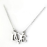 Fashion lady stainless steel love necklace shipping free