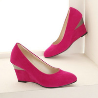 7colors  new arrive fashion wedges casual high heel shoes for women Spring shoes THSJKL710-1