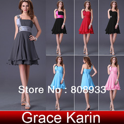 Free Shipping Grace Karin 1 piece Juniors Knee Length Short Cocktail Mini Club Dresses CL1004(China (Mainland))