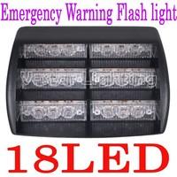 Vehicle Car Truck White 18 LED Emergency Flashing Flash Dash Strobe Light RED/BLUE