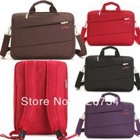 One shoulder double-shoulder multifunctional backpack 14 15 male women's laptop bag handbag