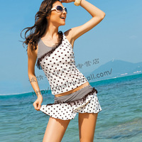 free shipping 2012 swimwear sexy lace split skirt piece set women's swimsuit