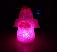 free shipping 10pcs/lot Crystal colorful wishing angel night light led decoration light gift lamp