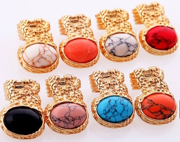 Free Shipping Fashion 8 Colors Exaggerated Statement Index Finger Ring (Min Order $20 Can Mix)