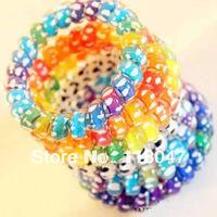 Free shipping Colourful Fashion Fashion hair accessory  Elastic hair band  telephone line hair ring