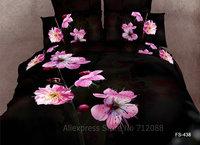 cotton bedlinen pink peach flower floral bedding sets home textile 4pcs for Queen/Full bed comforter quilt/duvet covers sets