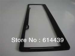 Carbon fiber CN-JP-EU Number License Plate Frame 20PCS/lots,free shipping(China (Mainland))