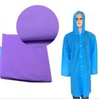 Free Shipping Dull Polish Recycled PVC Four Buckle Raincoat Transparent Raincoat Men Women Raincoat