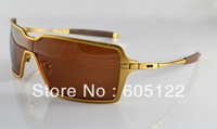 Free shipping Designer Sunglasses Sport glasses Men's Fashion Probation OO4041-05 sunglass Golden frame Brown Lens Polarized