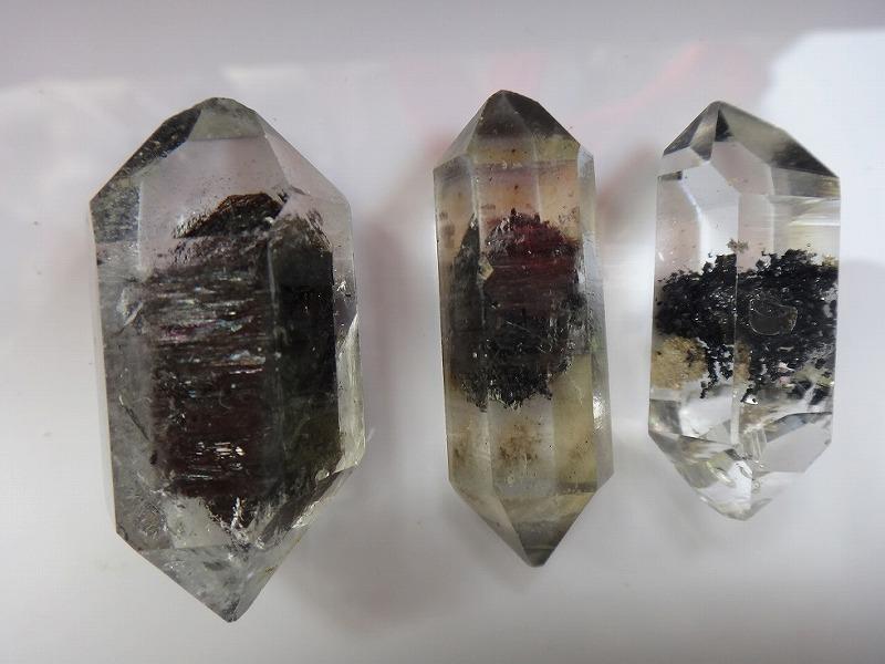 3 AA Rare Black Quartz Crystal Herkimer Diamond Rough Specimen(China (Mainland))