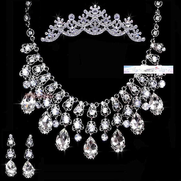 envío gratis de la fiesta nupcial de belleza collar de diamantes de