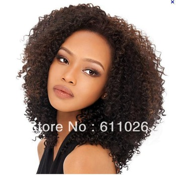short human hair quality mongolian hair afro kinky curl lace front wigs