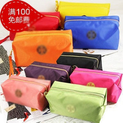 Freeshipping colorful simple waterproof cosmetic bag fashion handbag(China (Mainland))