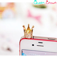 Min.Mix.order $10 OC0010 Mobile phone silver crown mobile phone dustproof stopper crown section
