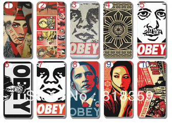 Wholesale/Free shipping/new fashion OBEY case for iphone 4 4G 4S/high quality 10pcs/lot