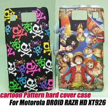 10pcs/lot. cool skull matte Hard Case Cover For Motorola DROID RAZR HD XT926 ,free shipping