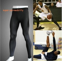 Lycra Tight Stretch Male Men Sports baskeball football long trousers pants uniforms underwears,Seamless,Quick dry,sweat absorb