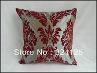 "Wholesale Free Shipping 10pcs elegance High Quality Taffeta Flocking pillow cover Cushion cases 18 "" 45X45CM"