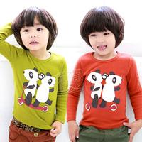 2013 spring boys clothing girls clothing child long-sleeve T-shirt basic shirt tx-1501