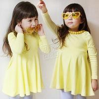 2013 spring girls clothing baby child long-sleeve dress qz-0503
