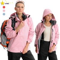 Windproof outdoor jacket women's twinset outdoor waterproof sportswear fleece clothing thermal clothing