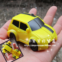 Mcdonald cool bumblebee deformation car people toy