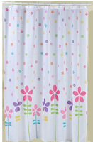 Small Colorful flowers Polyester Shower Curtain 180x180cm 4358