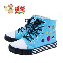 Autumn children shoes female child leather female child skateboarding shoes rainbow shoes high skateboarding shoes 12(China (Mainland))