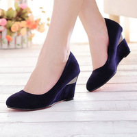 Big size 7 colors fashion casual spring wedges high heel shoes women's  ST1-3