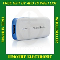 Free shipping Mini 5 in 1 3G Wireless WiFi USB Broadband Hotspot Router & 1800mAh Power Bank Portable 1 PC #SJ024