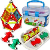 Children kids baby magnetic blocks educational toys 106 pcs magnetic stick magnetic building blocks